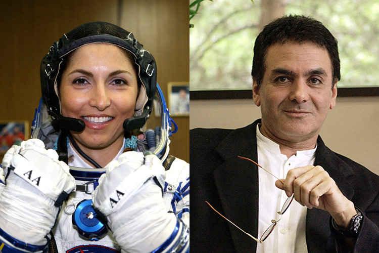 انوشه انصاری و پروفسور فیروز نادری ،نمایندگان اصغر فرهادی در مراسم اسکار 2017