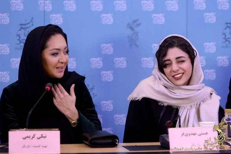 عکس های نیکی کریمی در ششمین روز سی و پنجمین جشنواره فیلم فجر