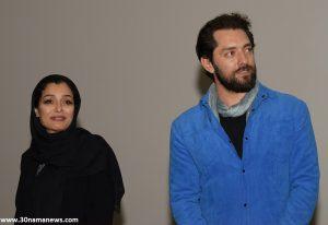 sareh bayat bahram radan zard 300x206 - گزارش تصویری از اکران فیلم زرد در سینماکوروش با حضور بازیگران فیلم