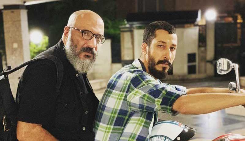 امیر جعفری و بهرام افشاری در فیلم سگ بند