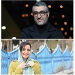 نازنین بیاتی و پژمان جمشیدی بازیگران «مجوز خروج» کیارش اسدیزاده
