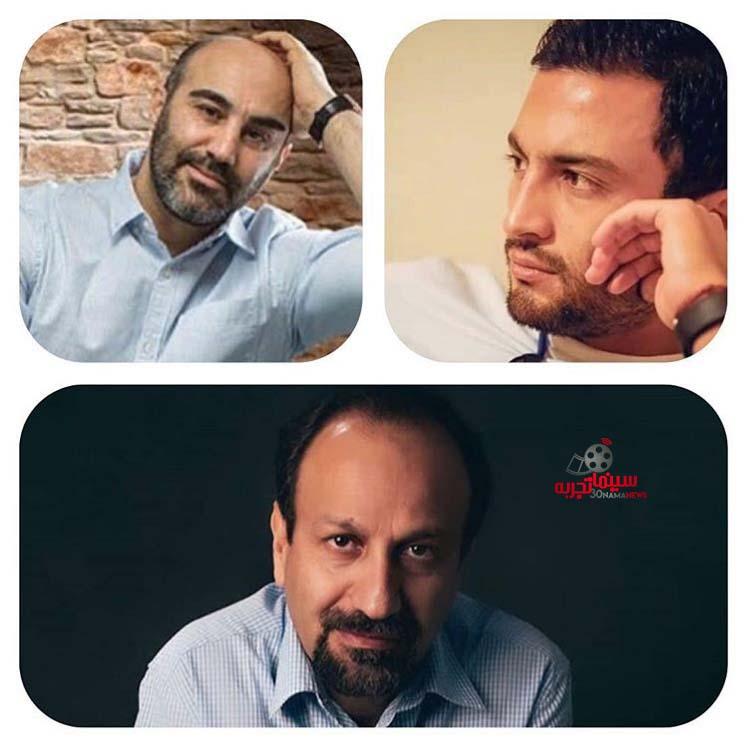 محسن تنابنده و امیر جدیدی در فیلم قهرمان اصغرفرهادی