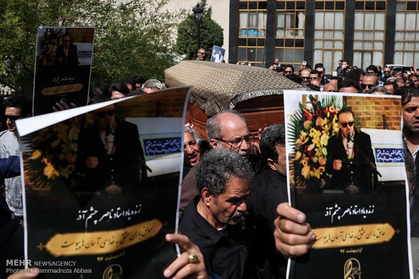 گزارش مراسم تشییع پیکر ناصر چشم آذر
